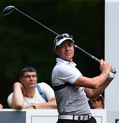 May 25, 2017 - Virginia Water, United Kingdom - Brett Rumford of Australia during 1st Round for the 2017 BMW PGA Championship on the west Course at Wentworth on May 25, 2017 in Virginia Water,England  (Credit Image: © Kieran Galvin/NurPhoto via ZUMA Press)