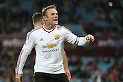 Wayne Rooney of Manchester United during the Barclays Premier League match between Aston Villa and Manchester United at Villa Park, Birmingham, England on 14 August 2015. Photo by Phil Duncan.