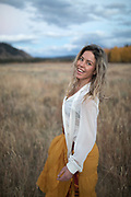Lyndsey Dyer in Moran, Wyoming.<br /> Clothes by Lisa Hadley<br /> Photo by David Stubbs