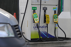 © Licensed to London News Pictures. 30/03/2012.People continue to panic buy petrol today (30.03.2012).at BP Petrol station Sidcup,South East London which now only has diesel in stock..Photo credit : Grant Falvey/LNP