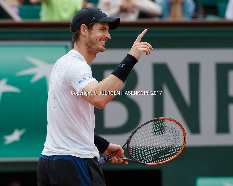 ANDY MURRAY (GBR)<br /> <br /> Tennis - French Open 2017 - Grand Slam / ATP / WTA / ITF -  Roland Garros - Paris -  - France  - 3 June 2017.