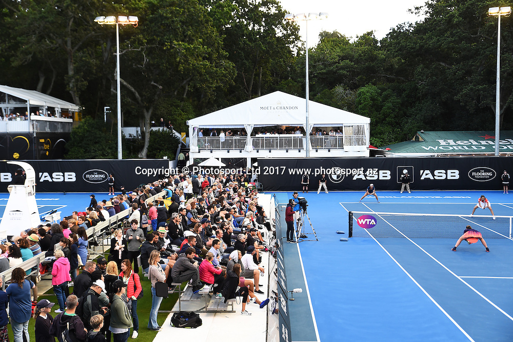 General view of courts during the ASB Classic WTA Womens Tournament Day 3. ASB Tennis Centre, Auckland, New Zealand. Wednesday 4 January 2017. ©Copyright Photo: Chris Symes / www.photosport.nz
