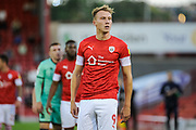 cauley woodrow during the first half of the the EFL Cup match between Barnsley and Carlisle United at Oakwell, Barnsley, England on 13 August 2019.