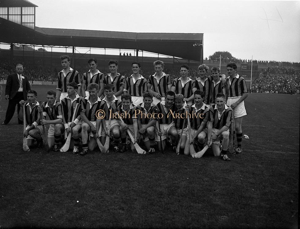 03/09/1961<br /> 09/03/1961<br /> 3 September 1961<br /> All-Ireland Minor Hurling Final: Kilkenny v Tipperary at Croke Park, Dublin.<br /> Kilkenny team.