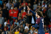 Adrien Rabiot (psg) scored a goal and celebrated it during the French championship L1 football match between Paris Saint-Germain (PSG) and Toulouse Football Club, on August 20, 2017, at Parc des Princes, in Paris, France - Photo Stephane Allaman / ProSportsImages / DPPI