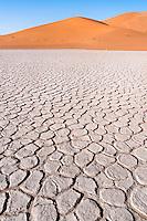 Lehmboden in der Sahara