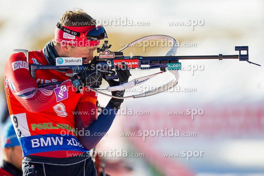 Tarjei Boe (NOR) competes during Men 12,5 km Pursuit at day 3 of IBU Biathlon World Cup 2015/16 Pokljuka, on December 19, 2015 in Rudno polje, Pokljuka, Slovenia. Photo by Urban Urbanc / Sportida