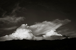 dramatic cloud formation over The Santa Fe Mountains in New Mexico