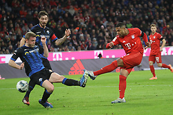 21.02.2020, Allianz Arena, Muenchen, GER, 1. FBL, FC Bayern Muenchen vs SC Paderborn 07, 23. Runde, im Bild 1:0 Gnabry // during the German Bundesliga 23th round match between FC Bayern Muenchen and SC Paderborn 07 at the Allianz Arena in Muenchen, Germany on 2020/02/21. EXPA Pictures © 2020, PhotoCredit: EXPA/ SM<br /> <br /> *****ATTENTION - OUT of GER*****