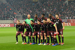 December 13, 2018 - Piraeus, Attiki, Greece - Commemorative photo of players of Milan, before the start of the match. (Credit Image: © Dimitrios Karvountzis/Pacific Press via ZUMA Wire)