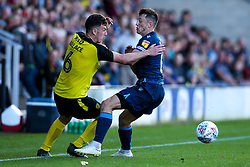 Kieran Wallace of Burton Albion takes on Ollie Clarke of Bristol Rovers - Mandatory by-line: Robbie Stephenson/JMP - 31/08/2019 - FOOTBALL - Pirelli Stadium - Burton upon Trent, England - Burton Albion v Bristol Rovers - Sky Bet League One