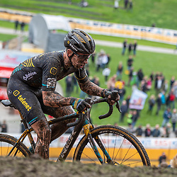 2019-10-19: Cycling: Superprestige: Boom: Lars van der Haar was one of the few riding to the top
