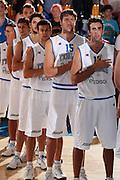 DESCRIZIONE : Bormio Torneo Internazionale Diego Gianatti Italia Iran<br /> GIOCATORE : Marco Carraretto Luca Vitali Angelo Gigli Luigi Datome<br /> SQUADRA : Nazionale Italia Uomini <br /> EVENTO : Torneo Internazionale Guido Gianatti<br /> GARA : Italia Iran<br /> DATA : 11/07/2010 <br /> CATEGORIA : presentazione prima della partita<br /> SPORT : Pallacanestro <br /> AUTORE : Agenzia Ciamillo-Castoria/ElioCastoria<br /> Galleria : Fip Nazionali 2010 <br /> Fotonotizia : Bormio Torneo Internazionale Diego Gianatti Italia Iran<br /> Predefinita :