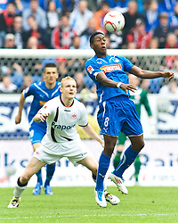 16.04.2011, Rhein-Neckar-Arena, Sinsheim, GER, 1. FBL, TSG 1899 Hoffenheim vs Eintracht Frankfurt, im Bild vl. Vedad Ibisevic (Hoffenheim BOS #19), Sebastian Rode (Frankfurt #20), David Alaba (Hoffenheim #8), EXPA Pictures © 2011, PhotoCredit: EXPA/ nph/  Roth       ****** out of GER / SWE / CRO  / BEL ******