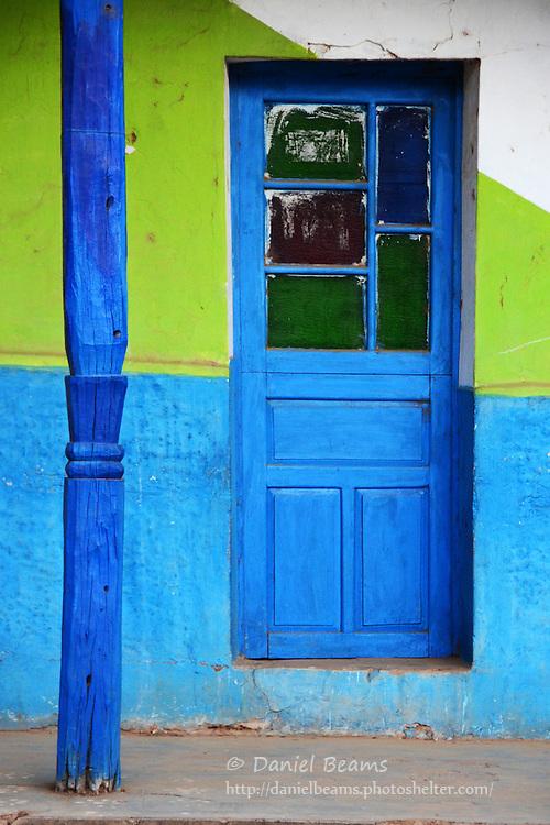 Detail of a door and post in Samaipata, Santa Cruz, Bolivia