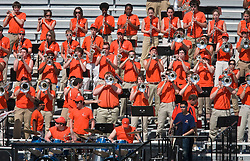 The Virginia Cavaliers marching band performs during the spring scrimmage.  The Virginia Cavaliers football team played the annual spring football scrimmage at Scott Stadium on the Grounds of the University of Virginia in Charlottesville, VA on April 18, 2009.  (Special to the Daily Progress / Jason O. Watson)