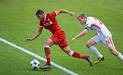 BIRKENHEAD, ENGLAND - Wednesday, December 6, 2017: Liverpool's Rhian Brewster during the UEFA Youth League Group E match between Liverpool FC and FC Spartak Moscow at Prenton Park. (Pic by David Rawcliffe/Propaganda)