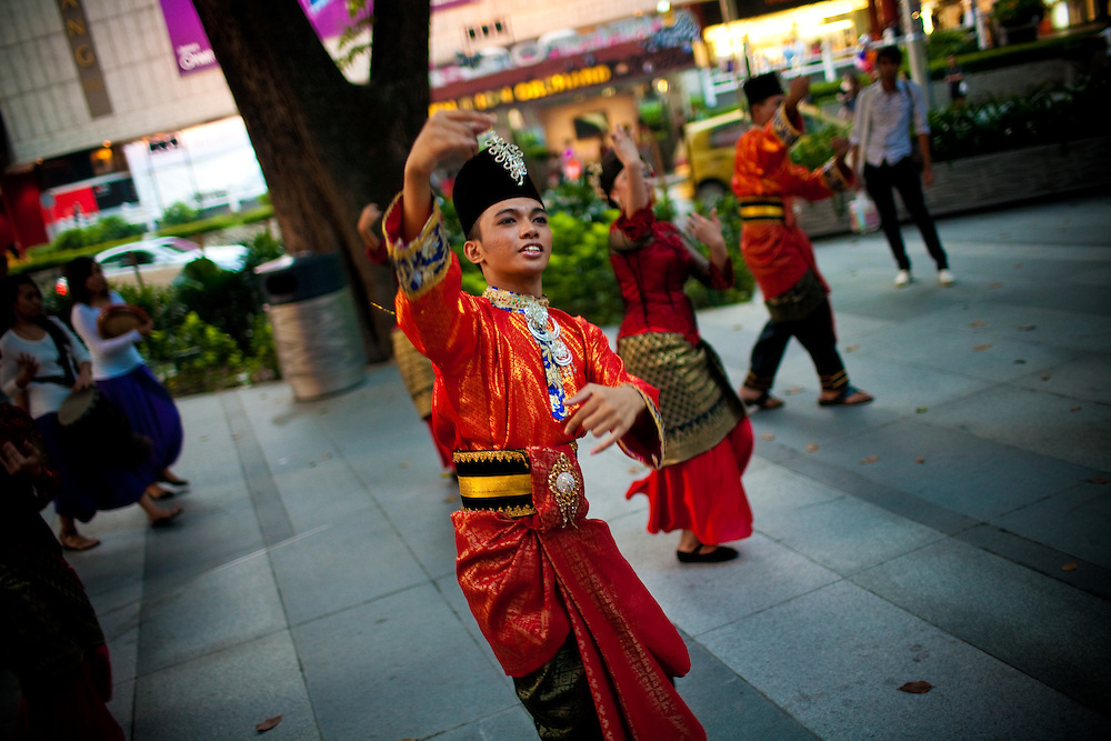 A promotion event to attract new customers on Singapore's famous Orchard Road.