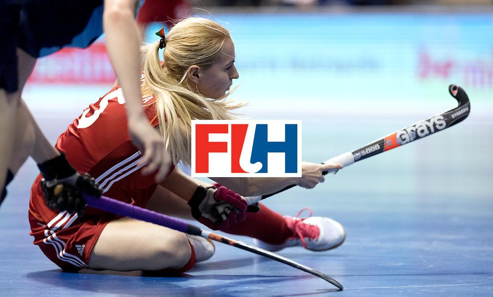 BERLIN - Indoor Hockey World Cup<br /> Bronze: Ukraine - Belarus<br /> Belarus wins 3rd place.<br /> foto: PAPKOVA Krestina.<br /> WORLDSPORTPICS COPYRIGHT FRANK UIJLENBROEK