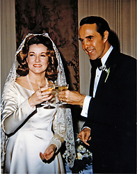Photo released by the United States Senate on November 16, 1987 showing United States Senator Bob Dole (Republican of Kansas) and his new wife Elizabeth Dole on their wedding day on December 6, 1975.  <br /> Credit: US Senate via CNP