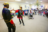 Mardi Gras celebration for residents of Brookside.