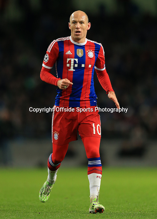 25th November 2014 - UEFA Champions League - Group E - Manchester City v Bayern Munich - Arjen Robben of Bayern - Photo: Simon Stacpoole / Offside.