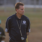 Delcastle manager Todd Lehman watches the game from the sidelines during a regular season soccer match between Newark and Delcastle Thursday, Oct. 22, 2015 at Delcastle in Wilmington.