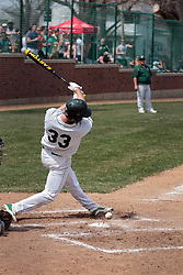 12 April 2014:  Jake Capko during an NCAA division 3 College Conference of Illinois and Wisconsin (CCIW) baseball game between the Augustana Vikings and the Illinois Wesleyan Titans at Jack Horenberger Stadium, Bloomington IL