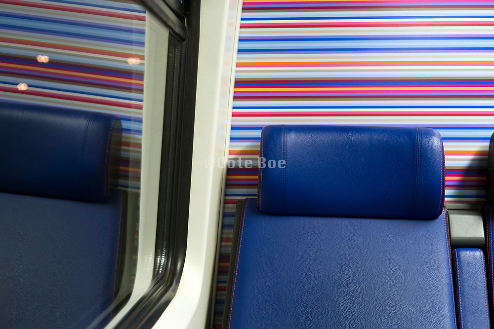 train passenger seats in the Netherlands during night time