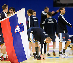 Team of Slovenia before the Men's Handball European Championship Group C match between Slovenia and Poland at the Olympia Hall on January 22, 2009 in Innsbruck, Austria. Slovenia vs. Poland had draw 30:30. (Photo by Vid Ponikvar / Sportida) - on January 2010