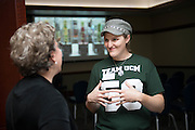 Andie Walla, a video producer for UCM, speaks about video servies at the Campus Communicator Network Expo in Nelson Commons on Wednesday, May 11, 2016. © Ohio University / Photo by Kaitlin Owens