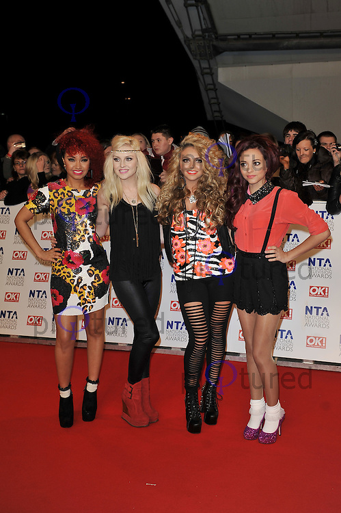 LONDON - JANUARY 25: Jesy Nelson, Perrie Edwards, Leigh Anne Pinnock and Jade Thirlwall of Little Mix attend the National Television Awards at the O² Arena, London on January 25, 2012. (Photo by Awais Butt)