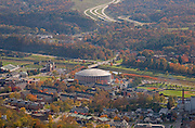 Aerial view of The Convocation Center and Ohio University. © Ohio University