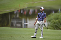 October 12, 2018 - Kuala Lumpur, Malaysia - Bronson Burgoon of the USA looks on his shot during the second round of 2018 CIMB Classic golf tournament in Kuala Lumpur, Malaysia on October 12, 2018. (Credit Image: © Zahim Mohd/NurPhoto via ZUMA Press)