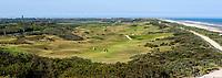 DOMBURG - Overzicht  van de Domburgsche Golf Club in Zeeland (Walcheren) .  Op de voorgrond hole 1. lOp de achtergrond Westkapelle.   COPYRIGHT KOEN SUYK