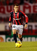 RIVER PLATE (2) Vs. SAN LORENZO de Almadro (2) for the soccer match in the Copa Libertadores at River Plate Stadium.<br /> SAN LORENZO move to next round after classification in a (4-3 aggregate)<br /> Buenos Aires, Argentina May 8, 2008.<br /> SAN LORENZO player ANDRES D'ALESSANDRO.<br /> © Gabriel Piko / PikoPress