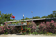 The entrance to Enver Yalcin Yoruk Muzesi restaurant, which is part of the Taste of Fetiye project.<br /> <br />  Here they are serving delicious fresh and locally sourced food