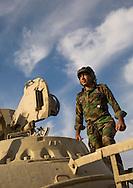 Iraq, Kurdistan, Kirkuk, kurdish peshmerga tank pilot on the frontline