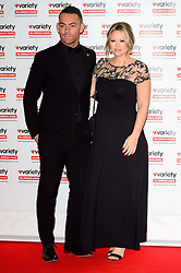 October 18, 2016 - London, London, UK - JUSTINS SCOTT and pregnant KIMBERLEY WALSH attend the Variety Showbiz Awards at the Hilton Park Lane Hotel. London, UK. (Credit Image: © Ray Tang/London News Pictures via ZUMA Wire)