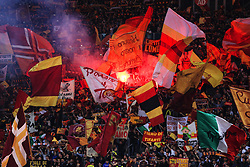Roma fans wave flags and let off flares before kick off - Mandatory by-line: Matt McNulty/JMP - 02/05/2018 - FOOTBALL - Stadio Olimpico - Rome,  - Roma v Liverpool - UEFA Champions League Semi Final, 2nd Leg