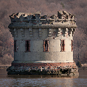 Bannerman's Island on the Hudson River, near Cold Spring, NY