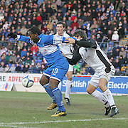 Jason Scotland in action for St Johnstone in the Scottish First Division match against Gretna on 27th January 2007. McDiarmid Park Perth