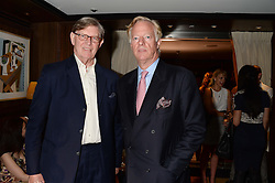 Left to right, BILL CASH and SIR MARK THATCHER at a party to celebrate Ben Goldsmith guest-editing the July/August 2013 edition of Spears Magazine held at 45 Park Lane, London on 19th June 2013.