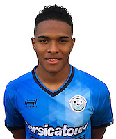 Rayan Raveloson during photocall of Tours FC for new season of Ligue 2 on October 9th 2016<br /> Photo : Fct / Icon Sport