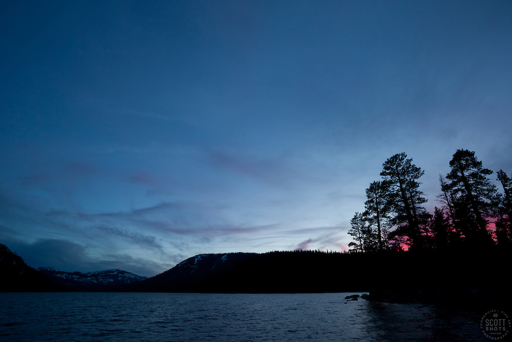 """Independence Lake Sunset 2""- This photograph was shot at Independence Lake, California."
