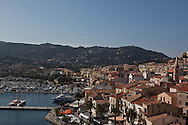 Corsica. France. Calvi cityscape view from the Citadel Corsica, France,