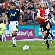 NLD/Rotterdam/20100919 - Voetbalwedstrijd Feyenoord - Ajax 2010, Tim de Cler en Luis Suarez