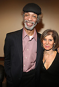 Gil Scott and Jill Newman backstage at Gil Scott Heron Produced by Jill Newman Productions and held at BB King on November 4, 2009 in New York City