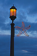 Streetlamp, Seaside, Oregon, USA