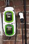 An electric car charging point in Nottingham, Nottinghamshire, United Kingdom. Nottingham was declared England's least car-dependent city in 2010, and sports many sustainable methods of transport.  (photo by Andrew Aitchison / In pictures via Getty Images)